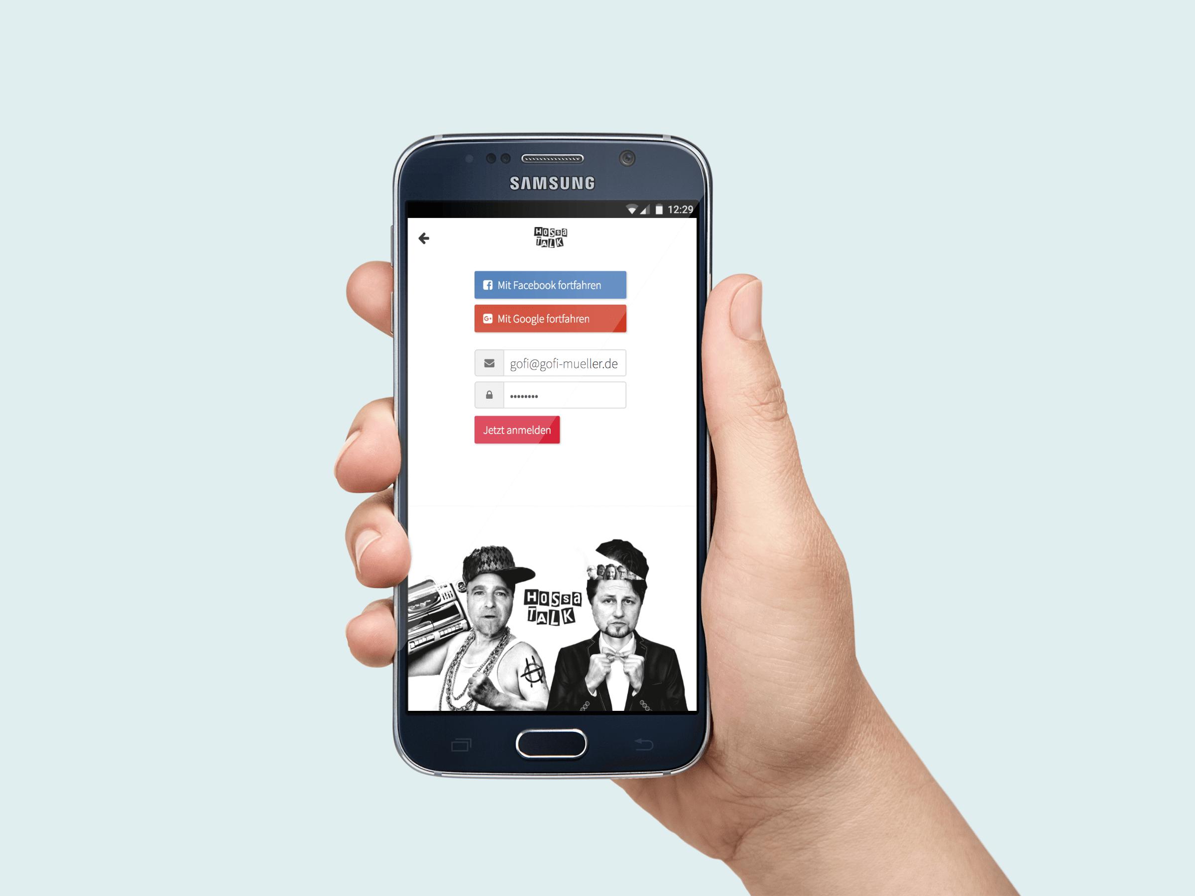 Hol dir die Hossa App!